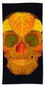 Aspen Leaf Skull 2 Black Beach Sheet