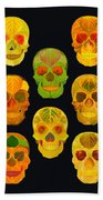 Aspen Leaf Skulls Poster 2014 Black Beach Towel
