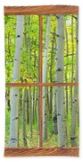 Aspen Tree Forest Autumn Picture Window Frame View  Beach Towel