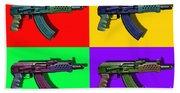 Assault Rifle Pop Art Four - 20130120 Beach Towel