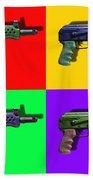 Assault Rifle Pop Art Four - 20130120 Beach Sheet