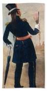 Assiniboine Warrior In Regimental Beach Towel