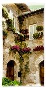 Assisi Courtyard Beach Towel