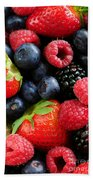 Assorted Fresh Berries Beach Towel