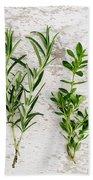 Assorted Fresh Herbs Beach Towel