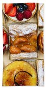 Assorted Tarts And Pastries Beach Towel