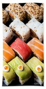 Assortment Of Sushi Beach Towel