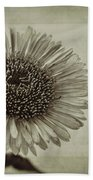 Aster With Textures Beach Towel