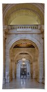Astor Hall At The New York Public Library Beach Towel