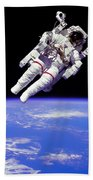 Astronaut In Space Beach Towel