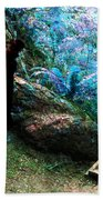 At Home In Her Forest Keep - Pacific Northwest Beach Towel