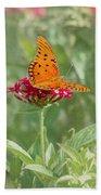 At Rest - Gulf Fritillary Butterfly Beach Towel