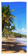 At The Beach Palmas Del Mar Beach Towel