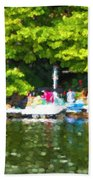 At The Cottage Dock Beach Towel