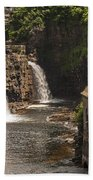 At The Falls In Ausable Ny Beach Towel