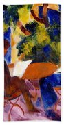 At The Garden Table Beach Towel by August Macke