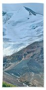 Athabasca Glacier Along Icefields Parkway In Alberta Beach Towel