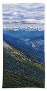 Athabasca River Valley - Jasper Beach Towel