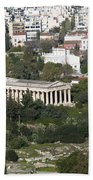 Athens Cityscape  Beach Towel