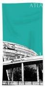 Atlanta Georgia Aquarium - Teal Green Beach Towel