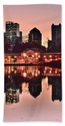 Atlanta Piedmont Pink Beach Towel