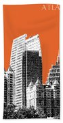 Atlanta Skyline 2 - Coral Beach Towel