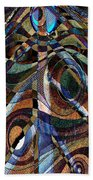 Atlanta Solis Abstract Art Beach Towel
