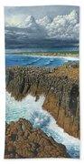 Atlantic Breakers Pontal Portugal Beach Towel
