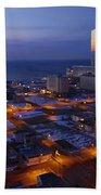 Atlantic City At Dawn Beach Towel