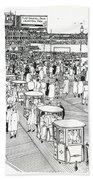 Atlantic City Boardwalk 1940 Beach Towel