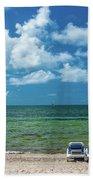 Atlantic Ocean At Smathers Beach In Key Beach Towel