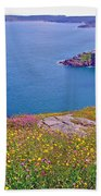 Atlantic Ocean From Signal Hill National Historic Site In Saint John's-nl Beach Towel