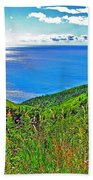 Atlantic Ocean View Point From Cape Breton Highlands National Park-nova Scotia Beach Towel