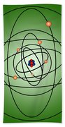 Atomic Structure Model Beach Towel