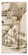 Atrium Of A Palace, In Genes, From Art Beach Towel