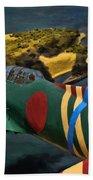 Attack On Battleship Row Beach Towel
