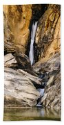 Attagar Falls In Western Ghats Beach Towel