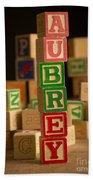 Aubrey - Alphabet Blocks Beach Towel