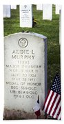 Audie Murphy - Most Decorated Beach Towel