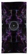 Audio Purple Neon Beach Towel