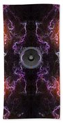 Audio Purple Orange Beach Towel