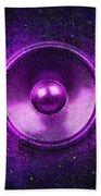 Audio Purple Beach Towel