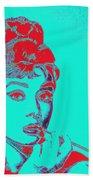 Audrey Hepburn 20130330v2p128 Square Beach Towel