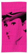 Audrey Hepburn 4 Beach Towel