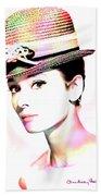 Audrey Hepburn 6 Beach Sheet