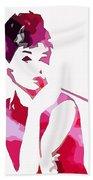 Audrey Pop Art Beach Towel