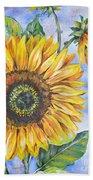Audrey's Sunflower Beach Towel