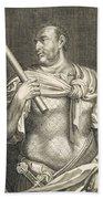 Aullus Vitellius Emperor Of Rome Beach Towel