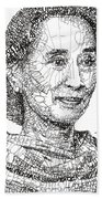 Aung San Suu Kyi Beach Towel