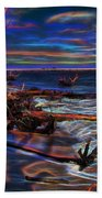 Aurora Borealis Over Florida Beach Towel
